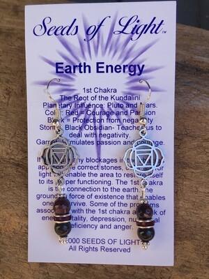 Earth Energy Obsidian Dangle Earrings