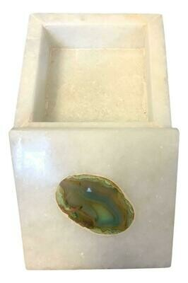 Marble Box with Engraved Agate