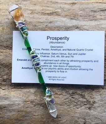 Prosperity & Abundance Gemstone Wand