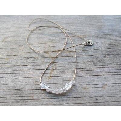 Herkimer Diamond Row Necklace