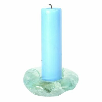 Molten Glass Candle Holder
