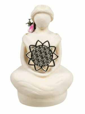 Gypsum Flower of Life Goddess Figurine