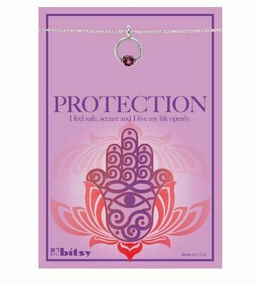 Amethyst Protection Eternity Charm Necklace
