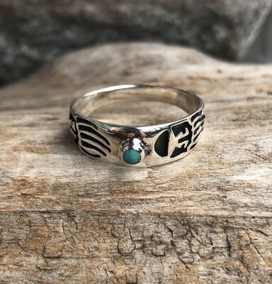 Tribal Mohave Turquoise Ring 11.5