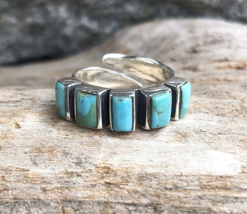 Sterling Silver Mohave Turquoise Ring 6 Adustable