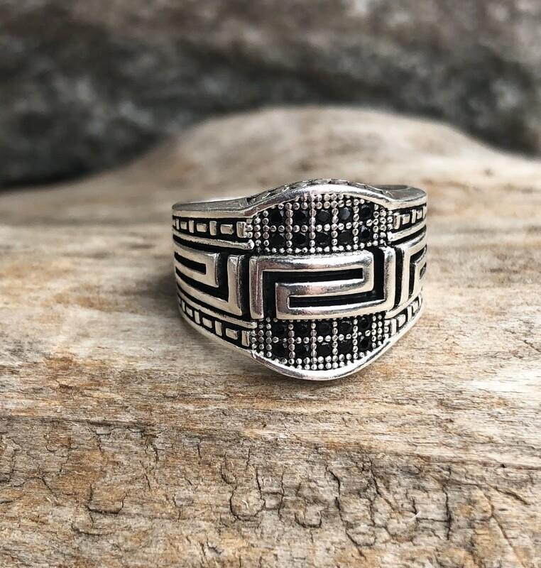 Black Topaz Ring 8.5