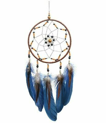 Blue Feather Dream Catcher