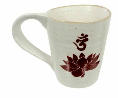 Natural Ceramic Lotus Flower Coffee Mug