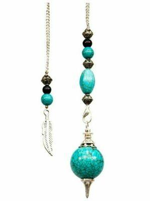 Sephoroton Turquoise Feather Pendulum