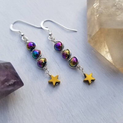 Galaxy Collection Shooting star Linear Earrings