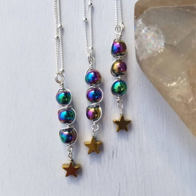 Galaxy Collection Shooting Star Pendant Necklace