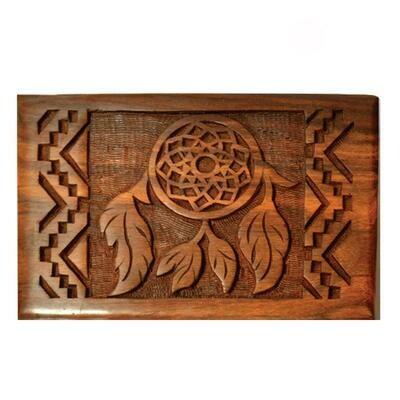 Dreamcatcher Wooden Carved Box