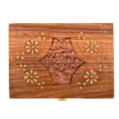 12 Pc Hand Carved Essential Oil Box