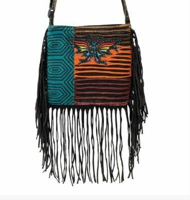 Razor Cut Butterfly Tassel Handbag
