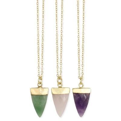 Gemstone Arrow Necklace
