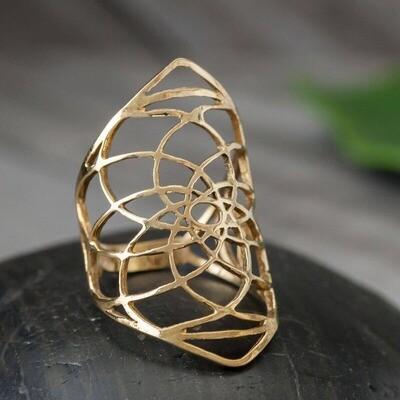 Sri Yantra Brass Ring