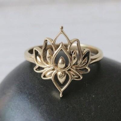 Lotus Point Brass Ring