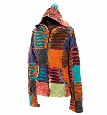 Muted  Razor Cut Hoodie Jacket