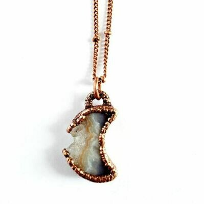 Petite Amethyst Moon Copper Necklace
