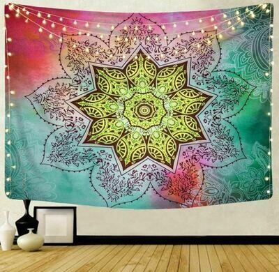 Large Flower Mandala Tapestry 79