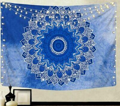 Blue Mandala Tapestry 79