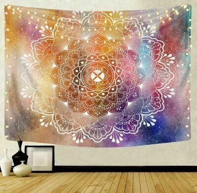 Multicolor Flower mandala Tapestry 79