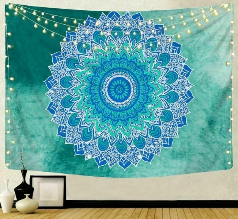 Green Mandala Tapestry 79
