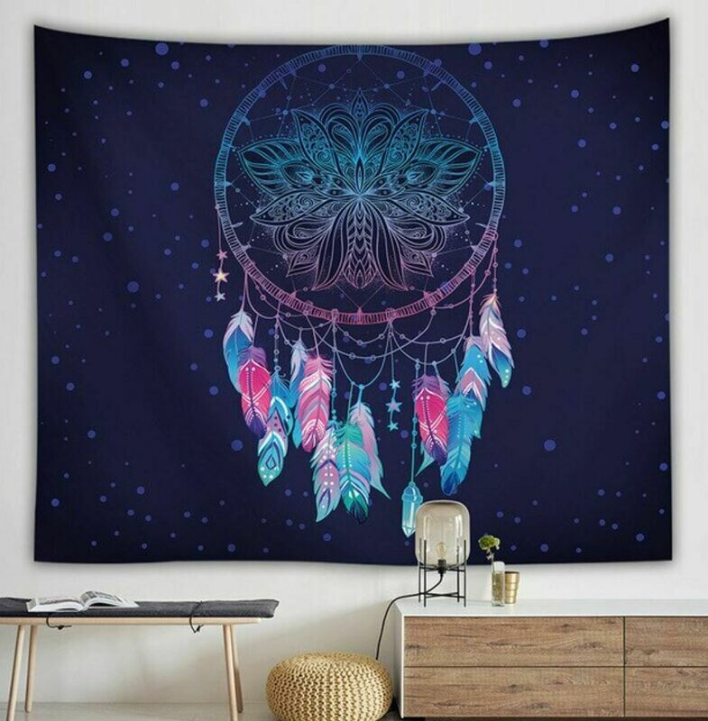 Blue Dreamcatcher Tapestry Wall Hanging 59