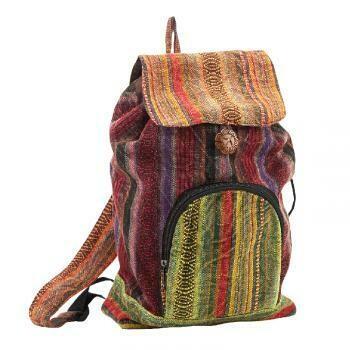 Stonewash Striped Nepali Backpack