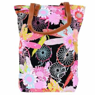 Dreamcatcher & Flowers Tote Bag