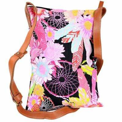 Dreamcatcher & Flowers Crossbody Handbag