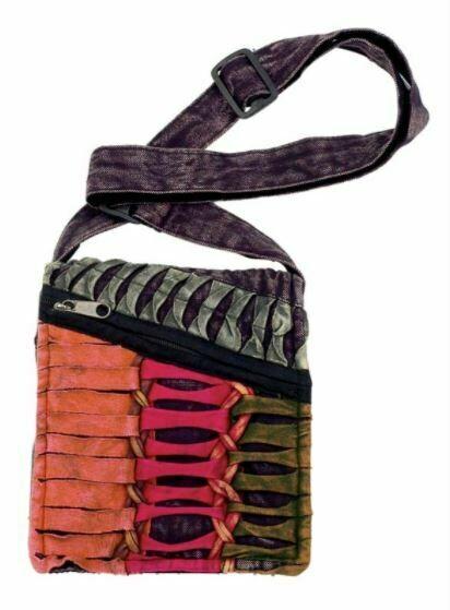 Razor Cut Ribbed Nepali Handbag