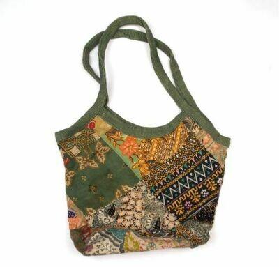 Recycled Sarong  Sari Bucket Bag