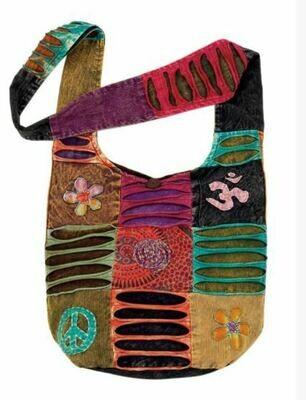 Flower Peace & Spiral Monk Bag