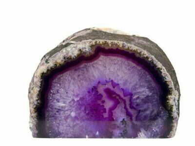 Purple Geode Candle Holder