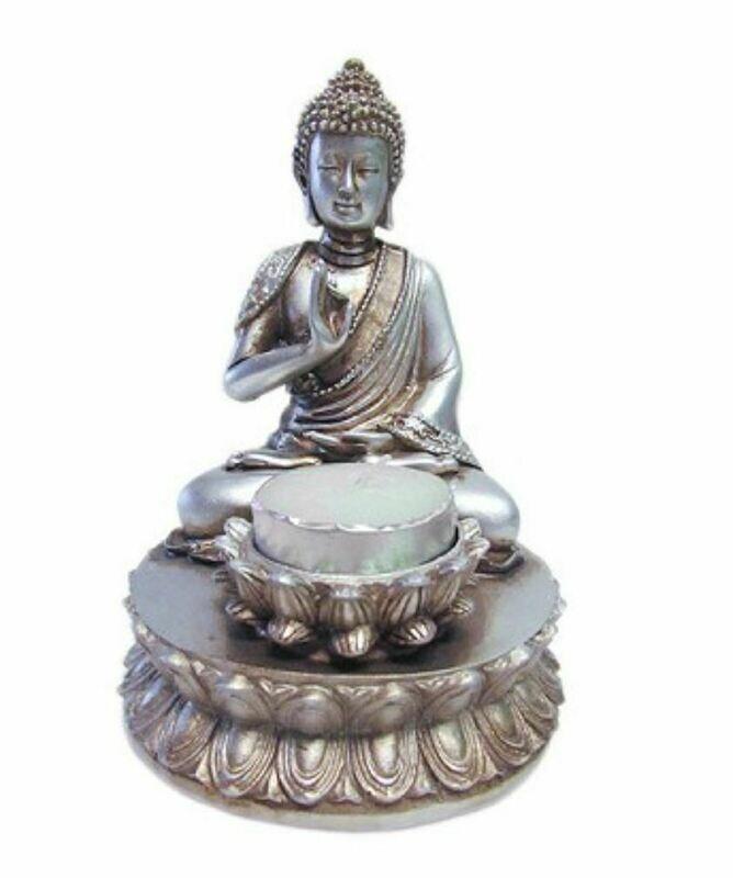Buddha and Lotus Candle Holder