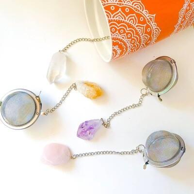 Crystal Gemstone 2-Inch Tea Ball Infuser