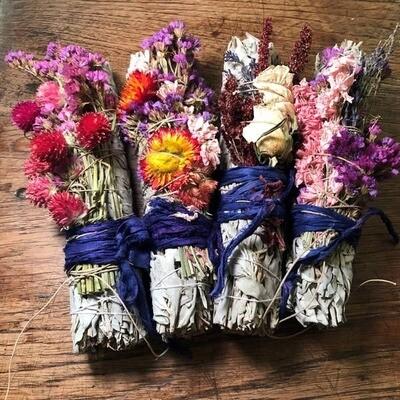 Wildflowers and Desert Sage Smudge Sticks