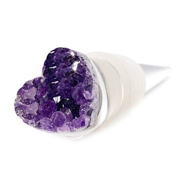 Amethyst Heart Wine Cork