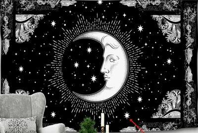 Celestial Moon Tapestry 59 x 51