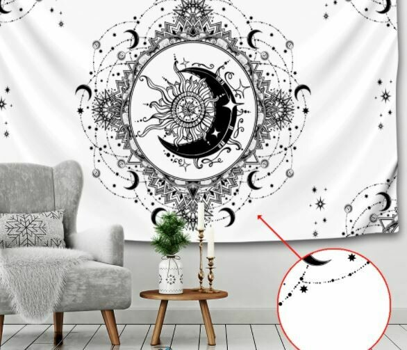 Sun and Moon Tapestry 59 x 51