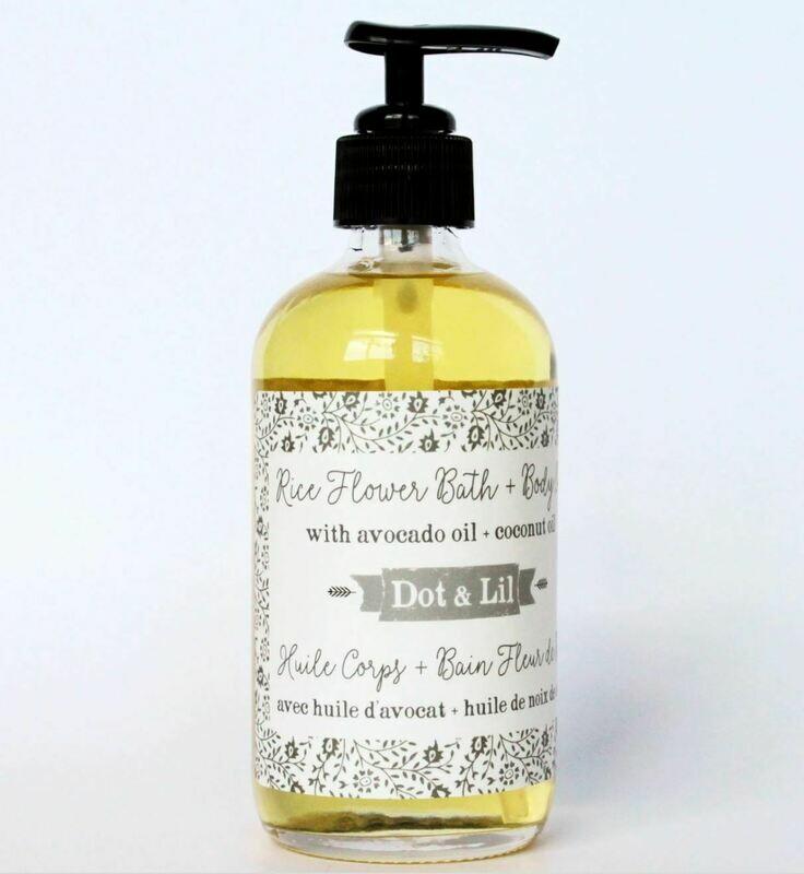 Dot & Lil Rice Flower Body Oil 8 fl oz