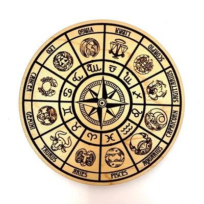 Astrology Star Sign Wheel Incense Holder