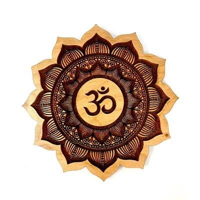 Incense Holder - Om Symbol Meditation Flower Mandala