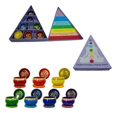 Seven Chakra Set of 7 Singing Bowls