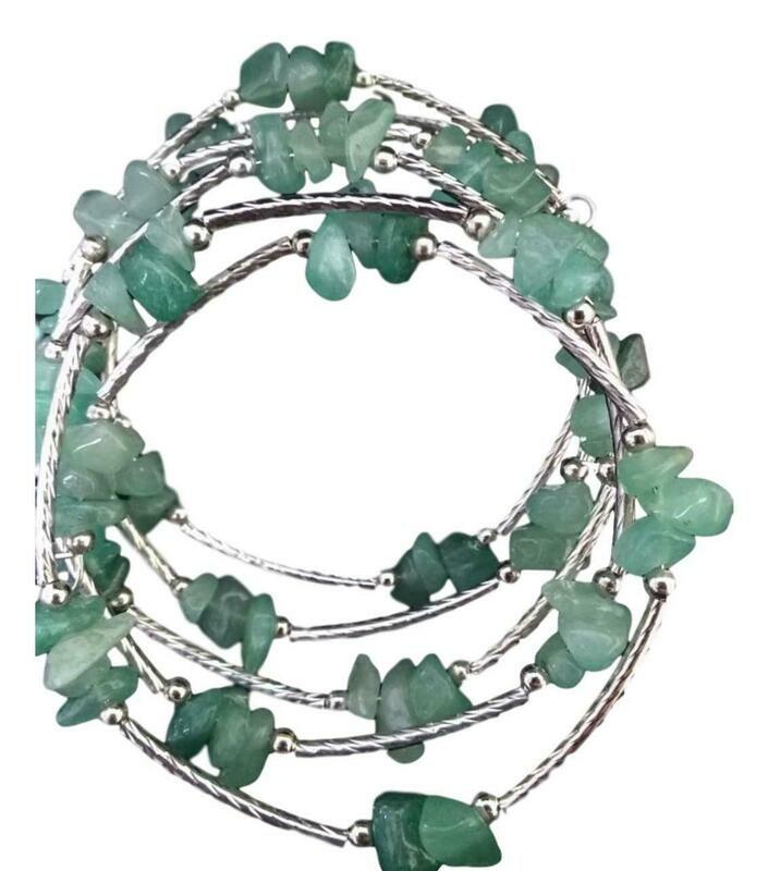 Aventurine Gemstone Wrap Bracelet