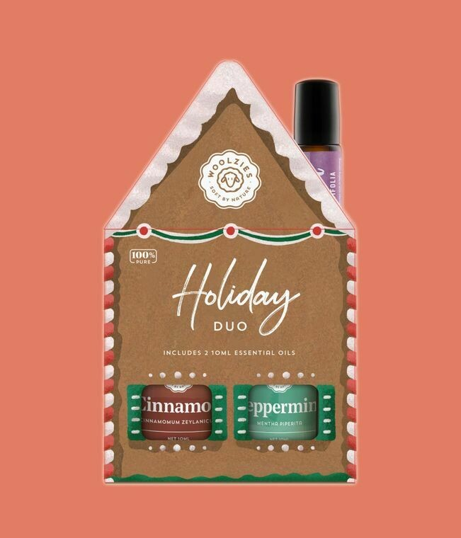 Holiday Gingerbread House Cinnamon Peppermint & Lavender Gift Set