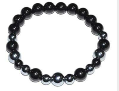 Terahertz & Black Tourmaline Bracelet 6mm