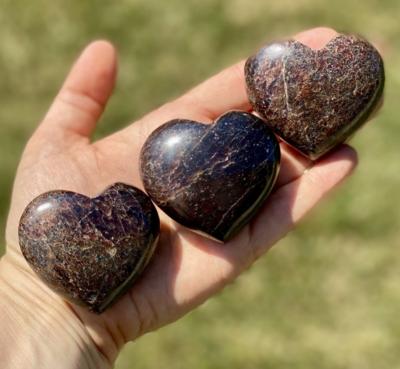 Large Garnet Gemstone Hearts
