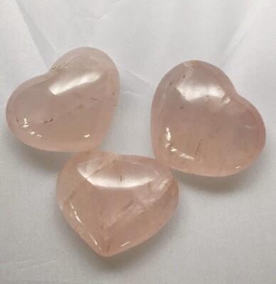 Rose Quartz Puffy Hearts 2